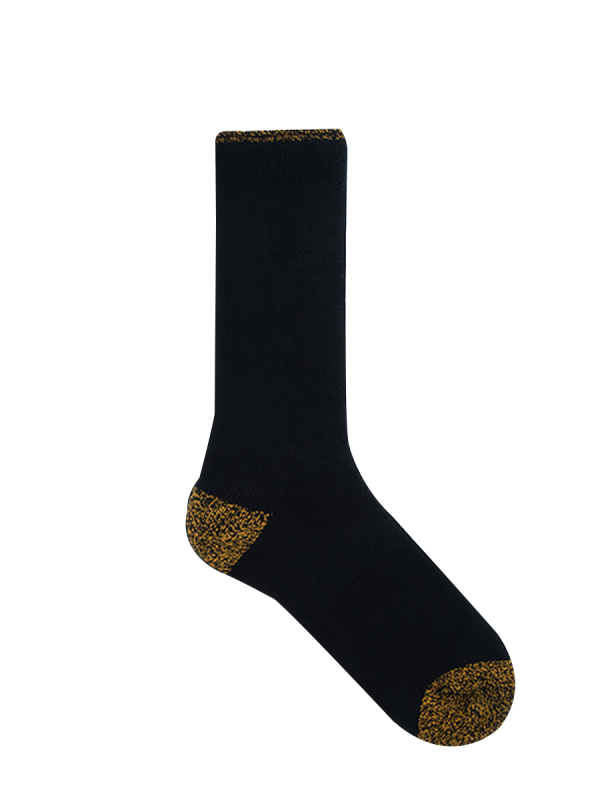 mens black and yellow heat bod thermal socks - underworks
