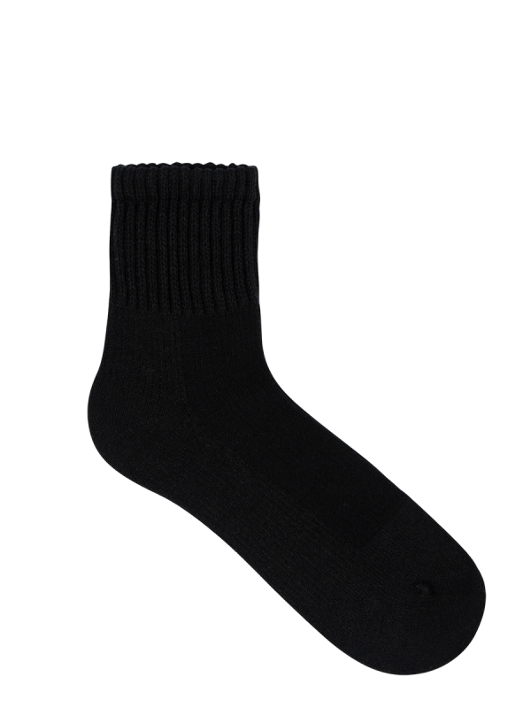 Mens All Day Socks Mid Crew Walking Sock - Black - Underworks