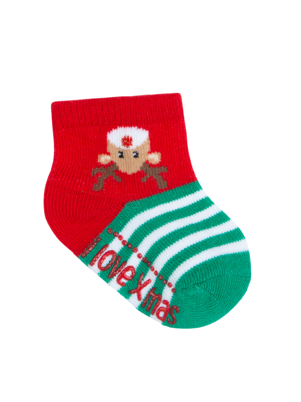 Baby Novelty Christmas Socks Mid Crew Reindeer