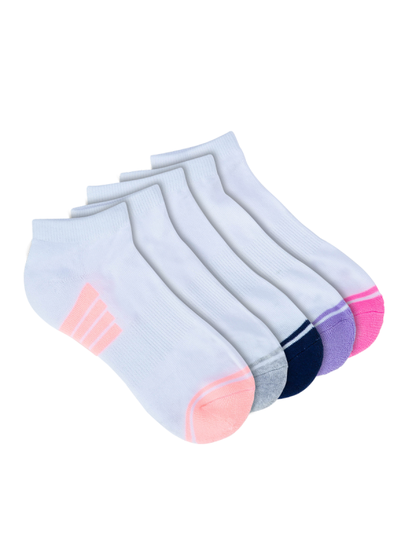 womens white low cut sports sock 5 pack - underworks