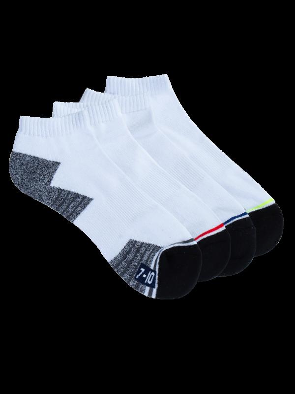 mens white low cut sport socks - 4 pack - underworks