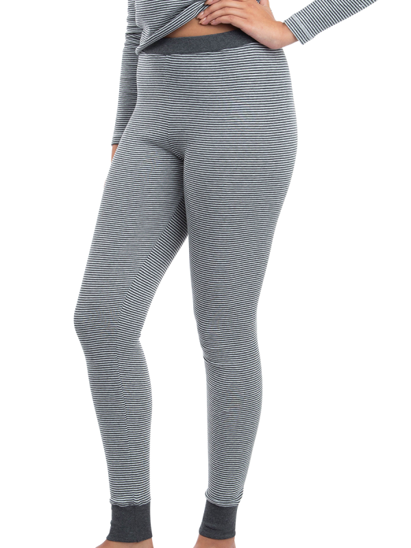 womens grey marle underworks brushed long johns thermal