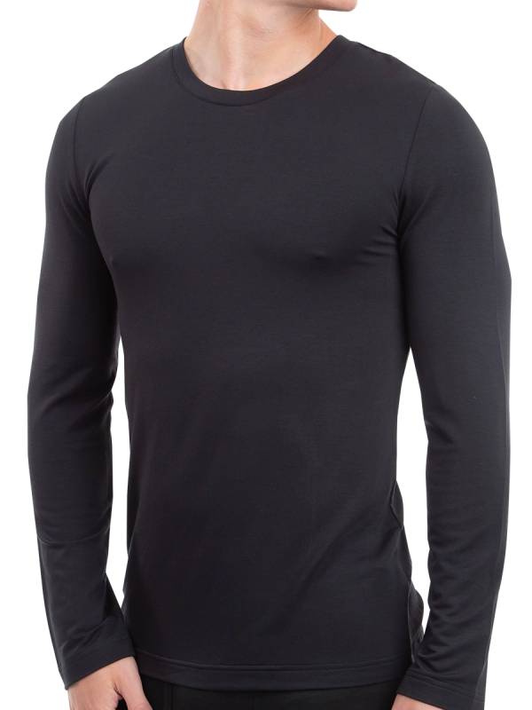 Men's Heat Bods Long Sleeve Thermal Top with Heat Retention