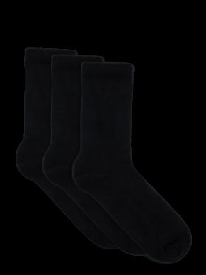 Women's Crew Black Bamboo Socks  - 3 Pack