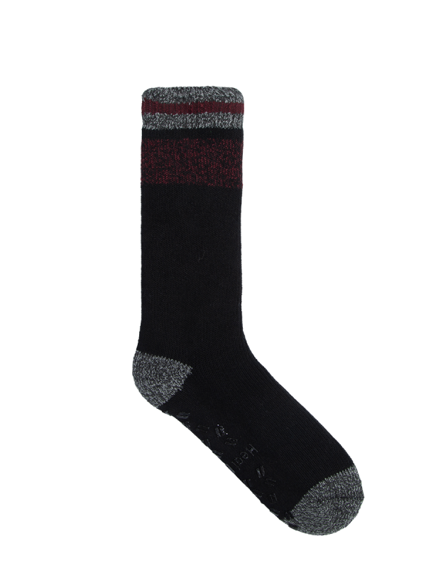 mens red and grey extra warm heat bods 2.3 TOG crew socks - underworks