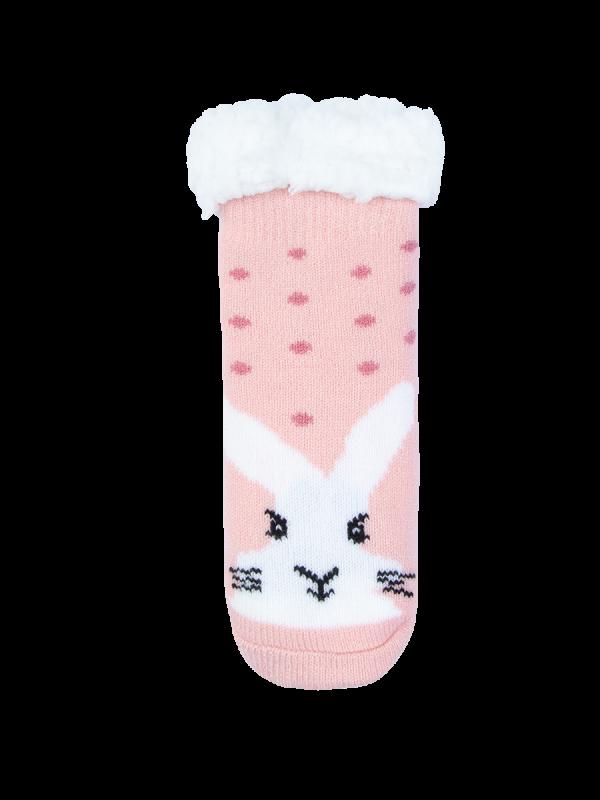 Kids Pink Single Heat Bods Sherpa Sock | Underworks