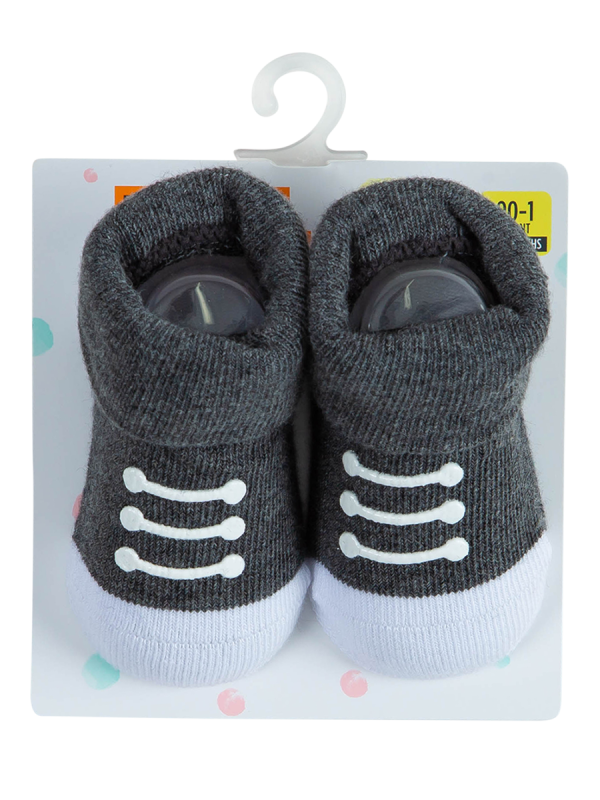 baby charcoal turn over top socks - underworks