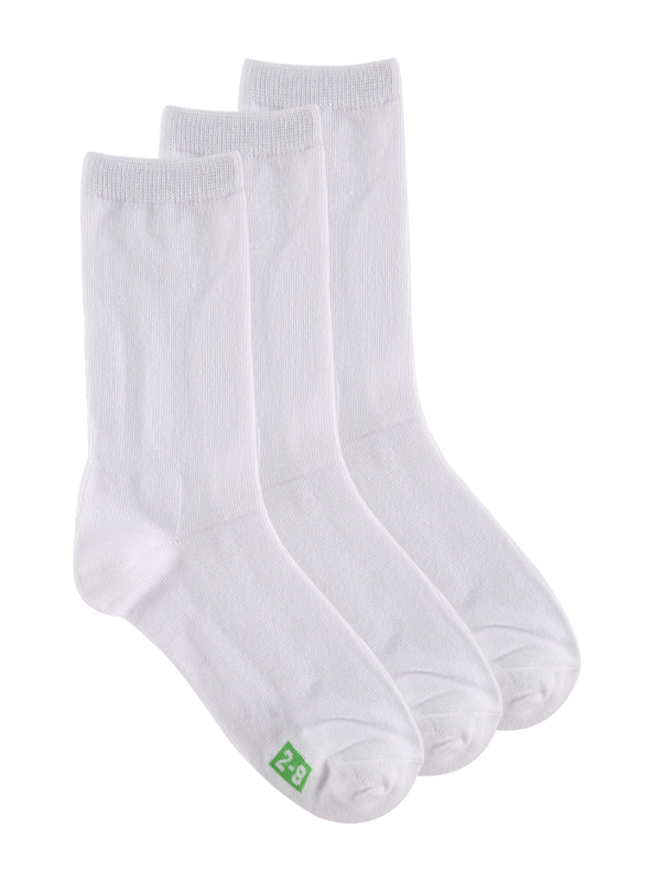 kids white plan crew socks - 3 pack - underworks