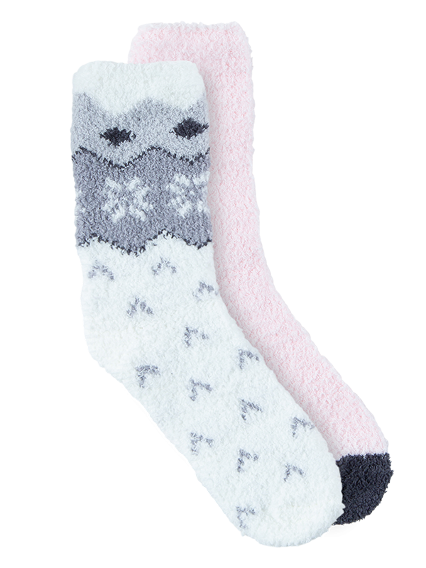 Women's Cosy Home Socks 2 Pack Crew