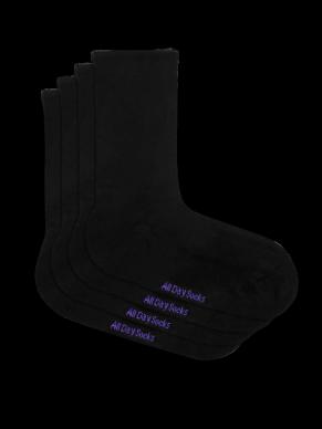Women's Black All Day Sock - 2 Pack