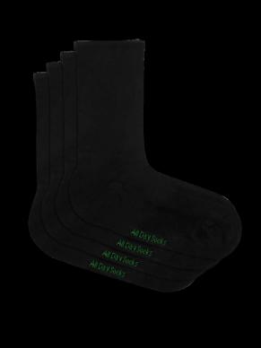 Women's Black All Day Bamboo Socks - 2 Pack