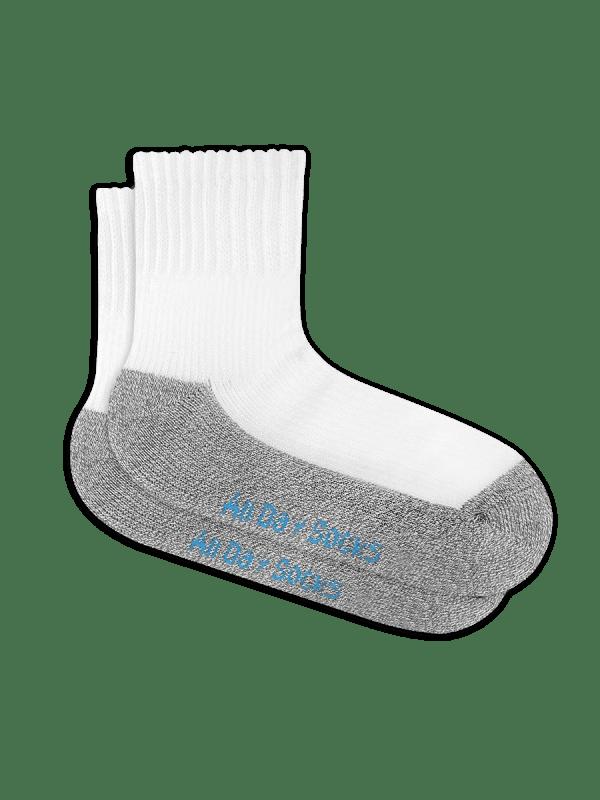 White Mens All Day Mid Crew Socks