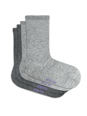 Women's Grey All Day Sock - 2 Pack