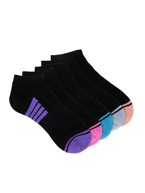 womens black low cut sports sock 5 pack - underworks