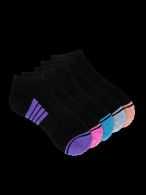 Women's Low Cut Black Sports Socks - 4 Pack