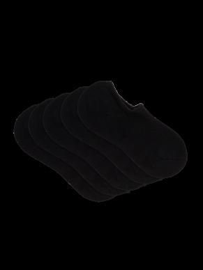 womens black sneaker socks 5 pack - underworks