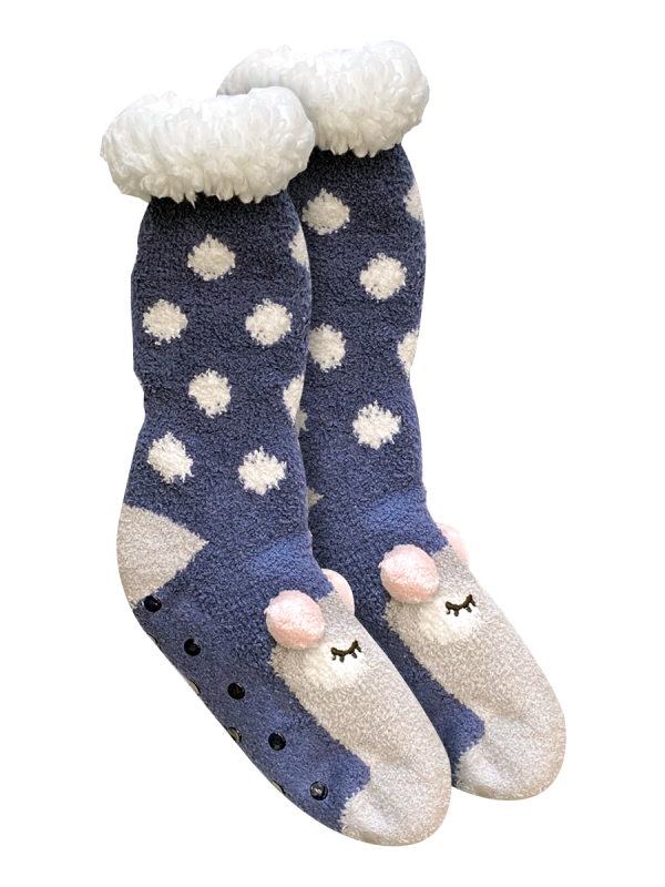 Women's Heat Bods Sherpa Lined Novelty Sock