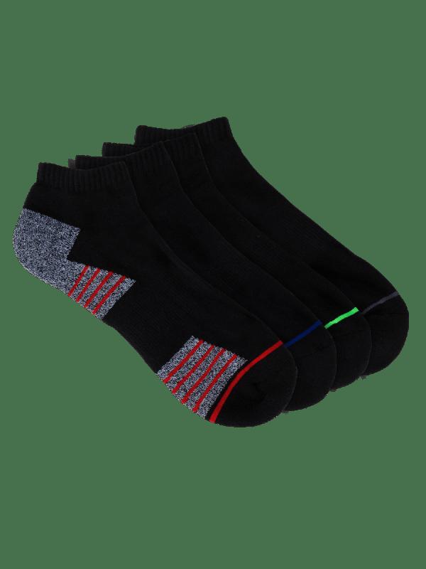 mens black low cut sport socks - 4 pack - underworks