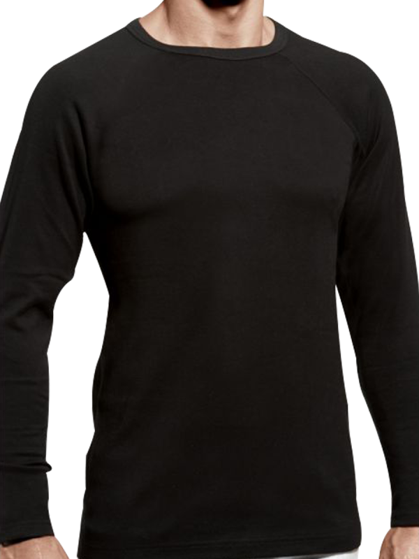 Mens Heat Bods Thermal With Wool Long Sleeve