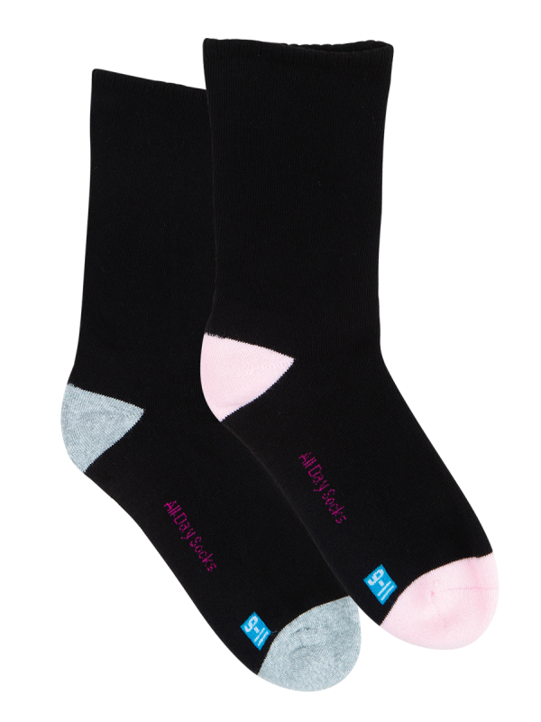 Women's All Day Socks Cotton Rich Cushion Crew 2 Pack