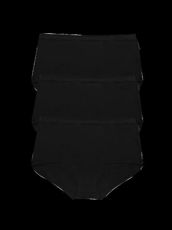 womens black full brief underwear 3 pack - underworks