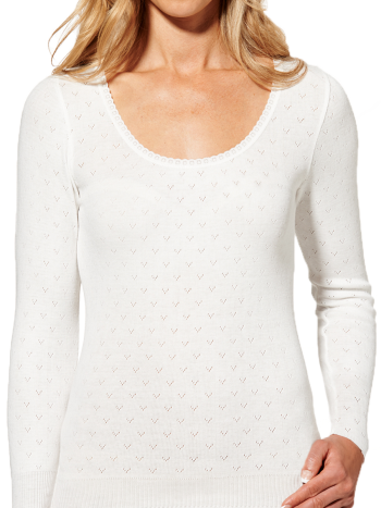 Women's Pointelle Long Sleeve Thermal