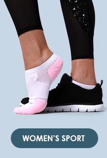 Womans foot wearing Underworks sport socks with sports shoes